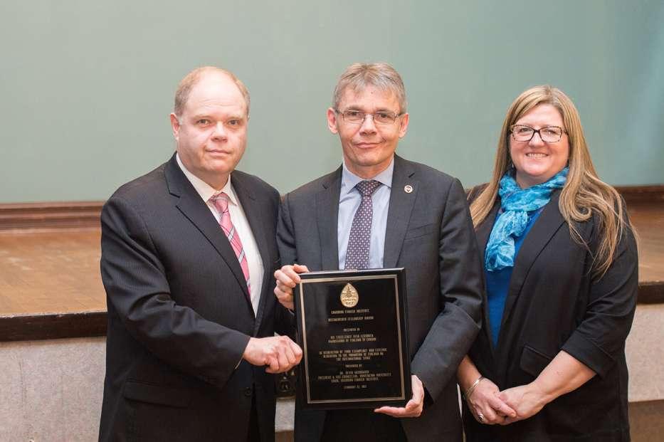 News Release CFI Fellowship Presented to Ambassador of Finland