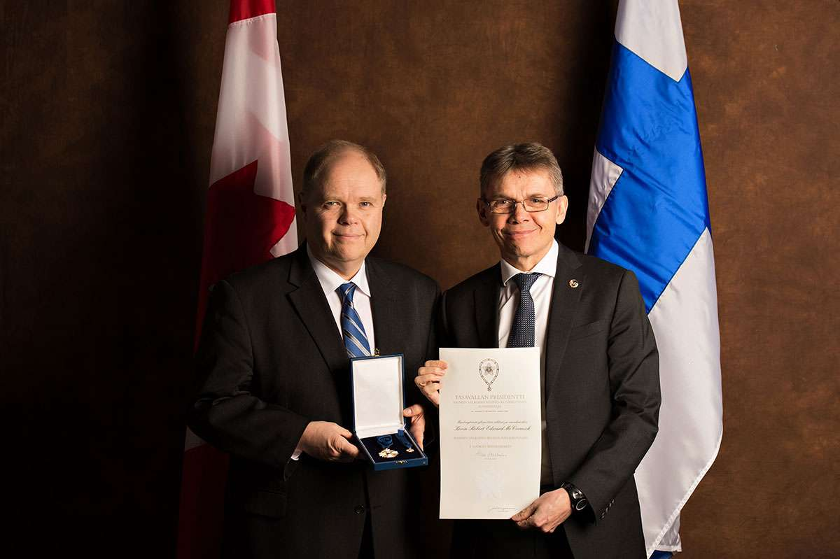 News Release Dr. Kevin McCormick Receives Prestigious National Honour From Finland