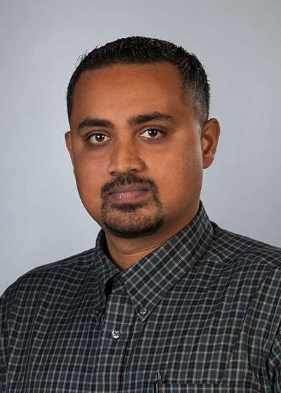 Head Shot of Dr. Krishnan Venkataraman, Associate Professor of Gerontology at Huntington University