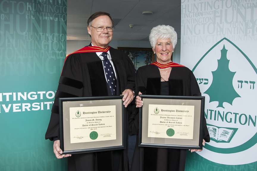 News Release - Huntington University Honours Locals: Jeanne Warwick Conroy and James M. Young