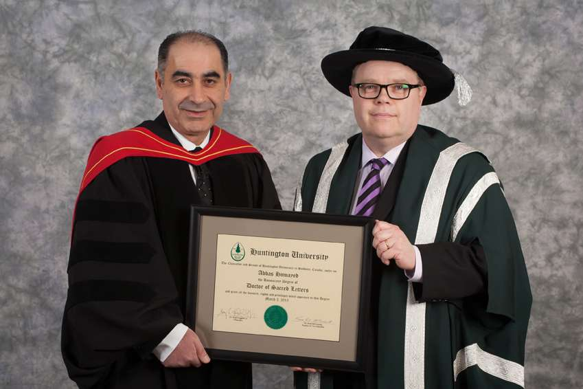 News Release - Huntington University Honours Abbas Homayed