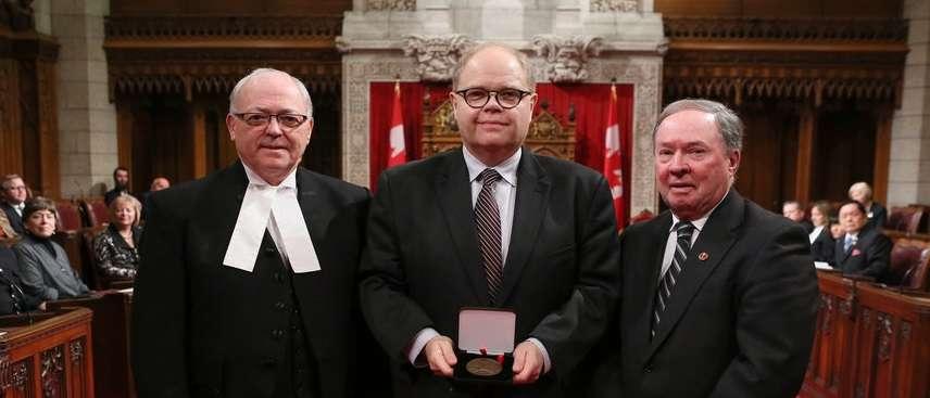 Media Release Senate of Canada 150 Medal Presented To Huntington University President